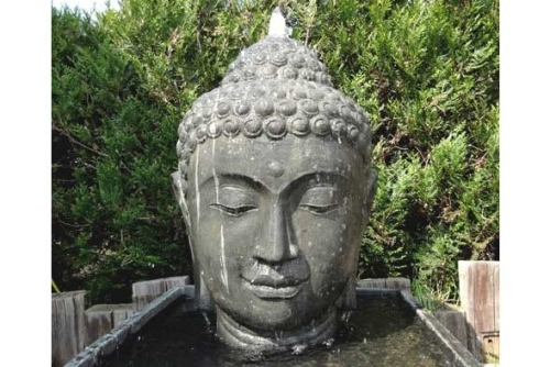 buddha gesicht garten unikate bali buddha. Black Bedroom Furniture Sets. Home Design Ideas