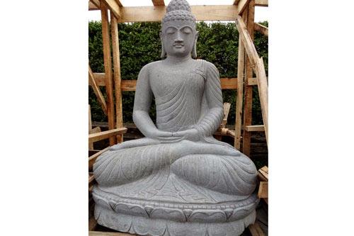 Buddha Figur sitzend für Garten aus Andesit 160cm
