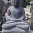 Sitzender Buddha aus reiner Lava