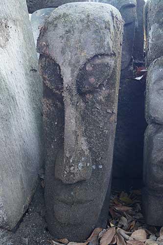 100cm Osterinsel Kopf aus Lava